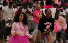 Student Council participates in the Pink Out Prep Rally.