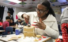 During Interior Design, students built houses out of Gingerbread.