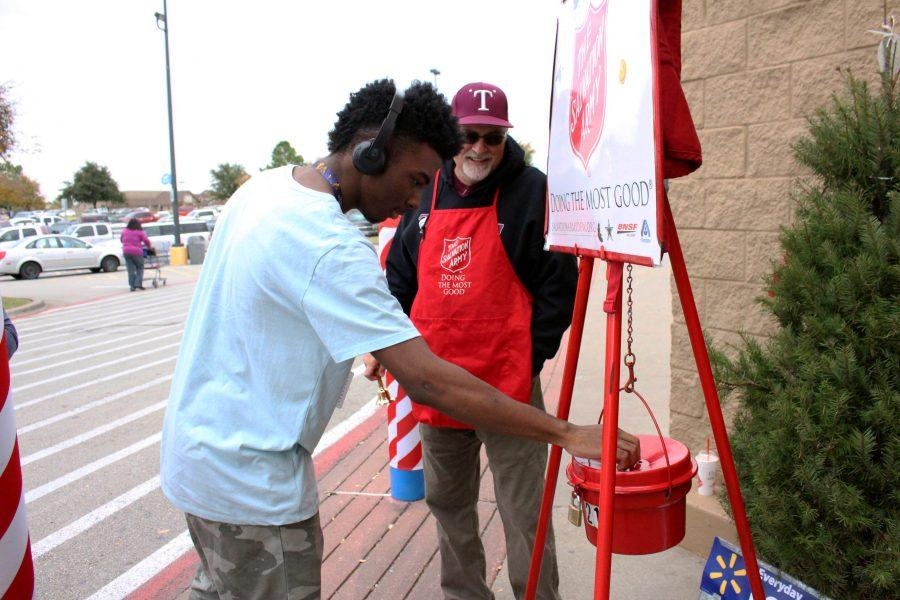 Administration, Students Volunteer at Salvation Army