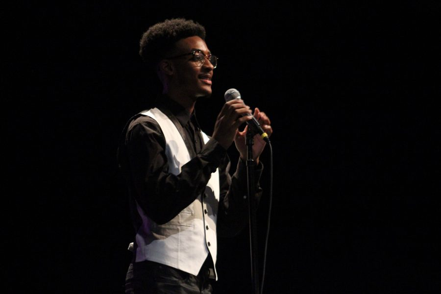 Katrell Thomas (12) performed during Cinderfella on Monday. He will also be performing tonight at Night of the Arts.