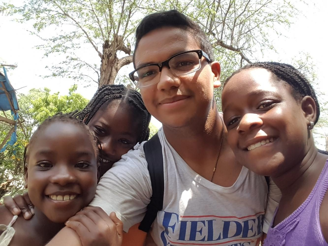 Junior Helps in Haiti on Mission Trip