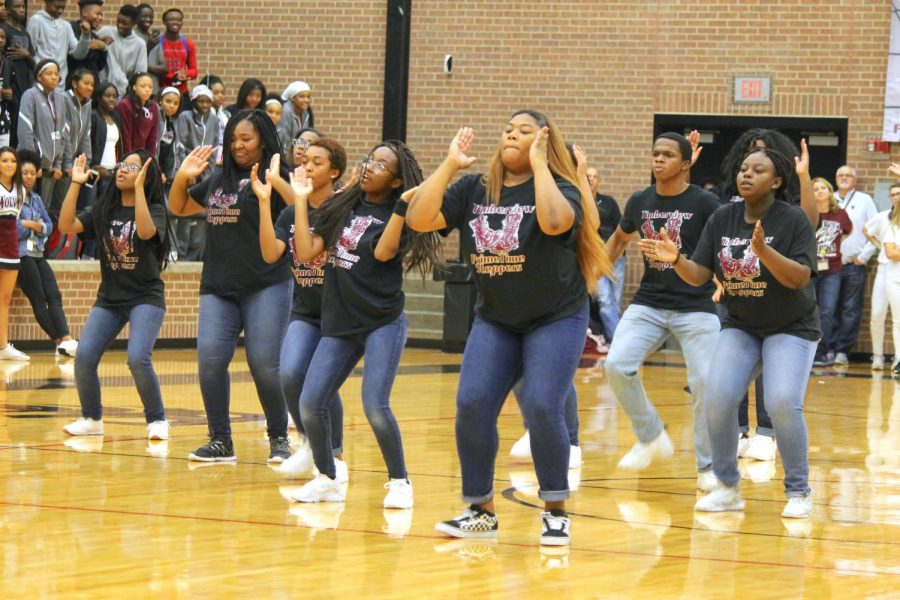 Step Team Debuts During Black-Out Pep Rally