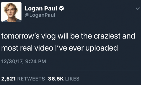 Youtuber Logan Paul Apologizes